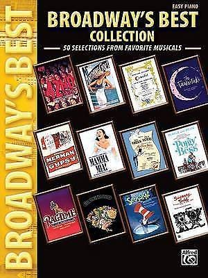 Broadways Best Collection Favorite Musicals Easy Piano Sheet Music Book B24 S50