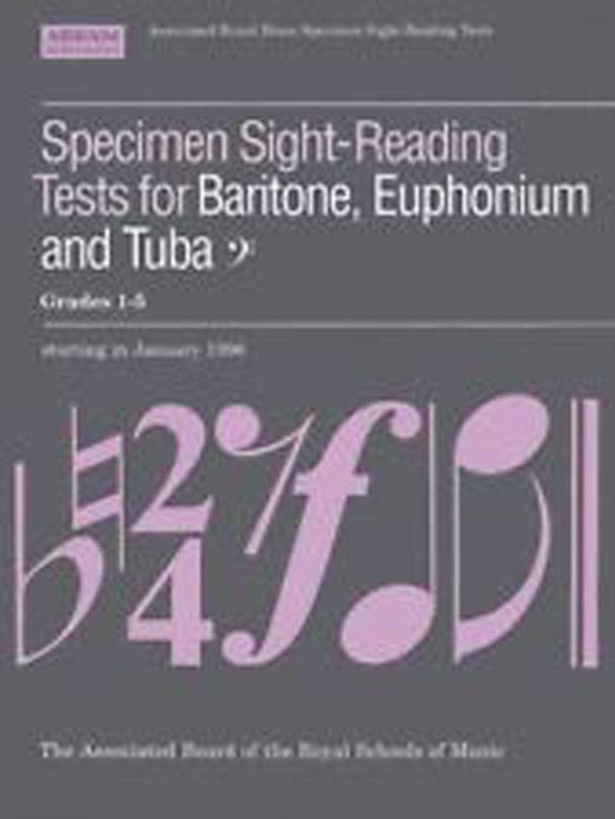 ABRSM Specimen Sight Reading Tests Baritone Euphonium Tuba Bass Clef B28