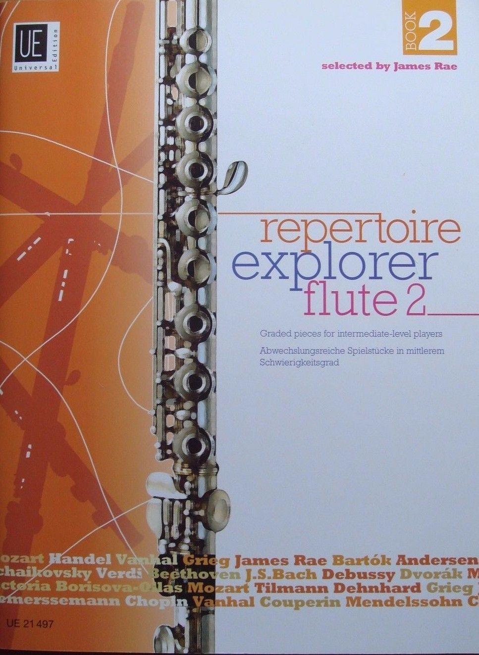 Repertoire Explorer 2 Flute Book by James Rae Universal Edition B29