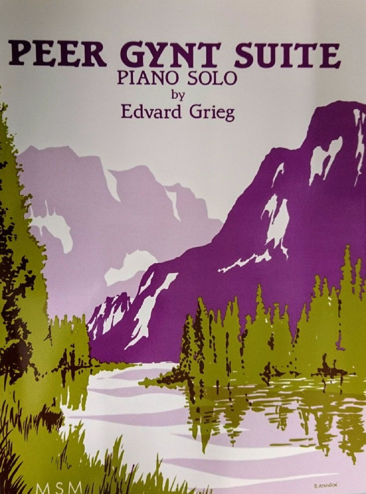 Peer Gynt Suite Piano Solo Edvard Grieg Sheet Music Book S134