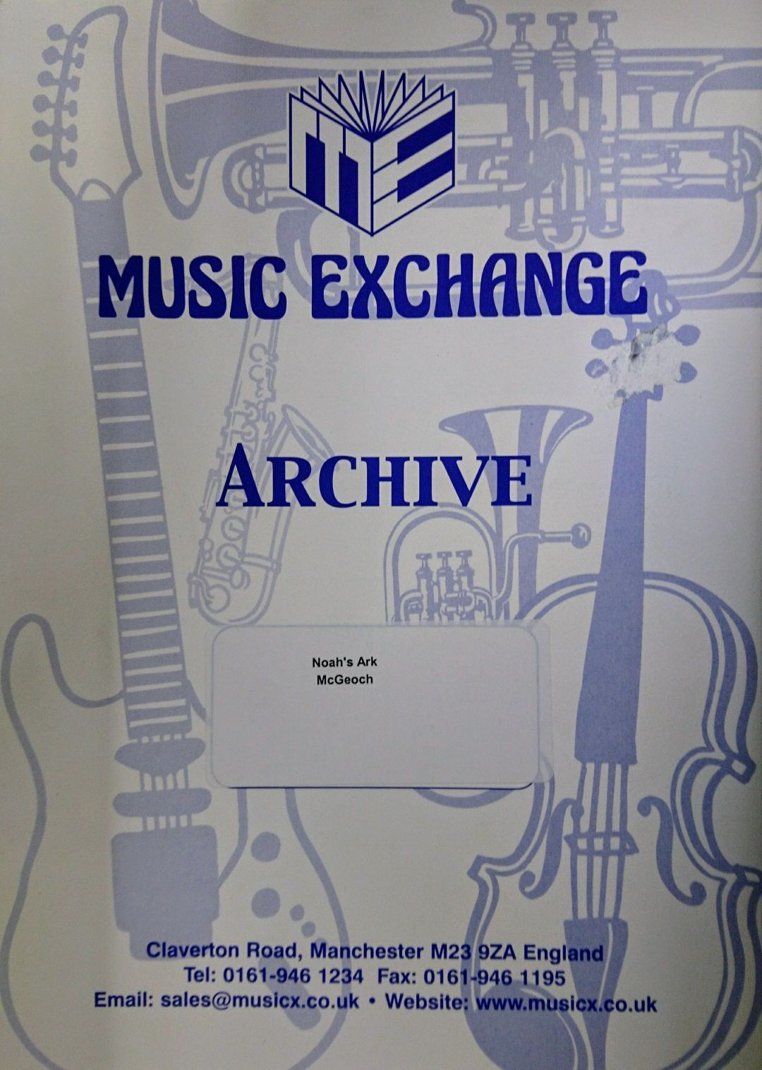 Music Exchange Noahs Ark McGeoch Voice Piano Sheet Music S148