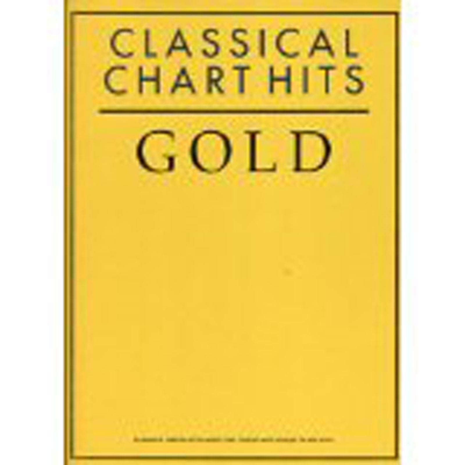 Classical Chart Hits Gold Piano Solo Sheet Music Book B59