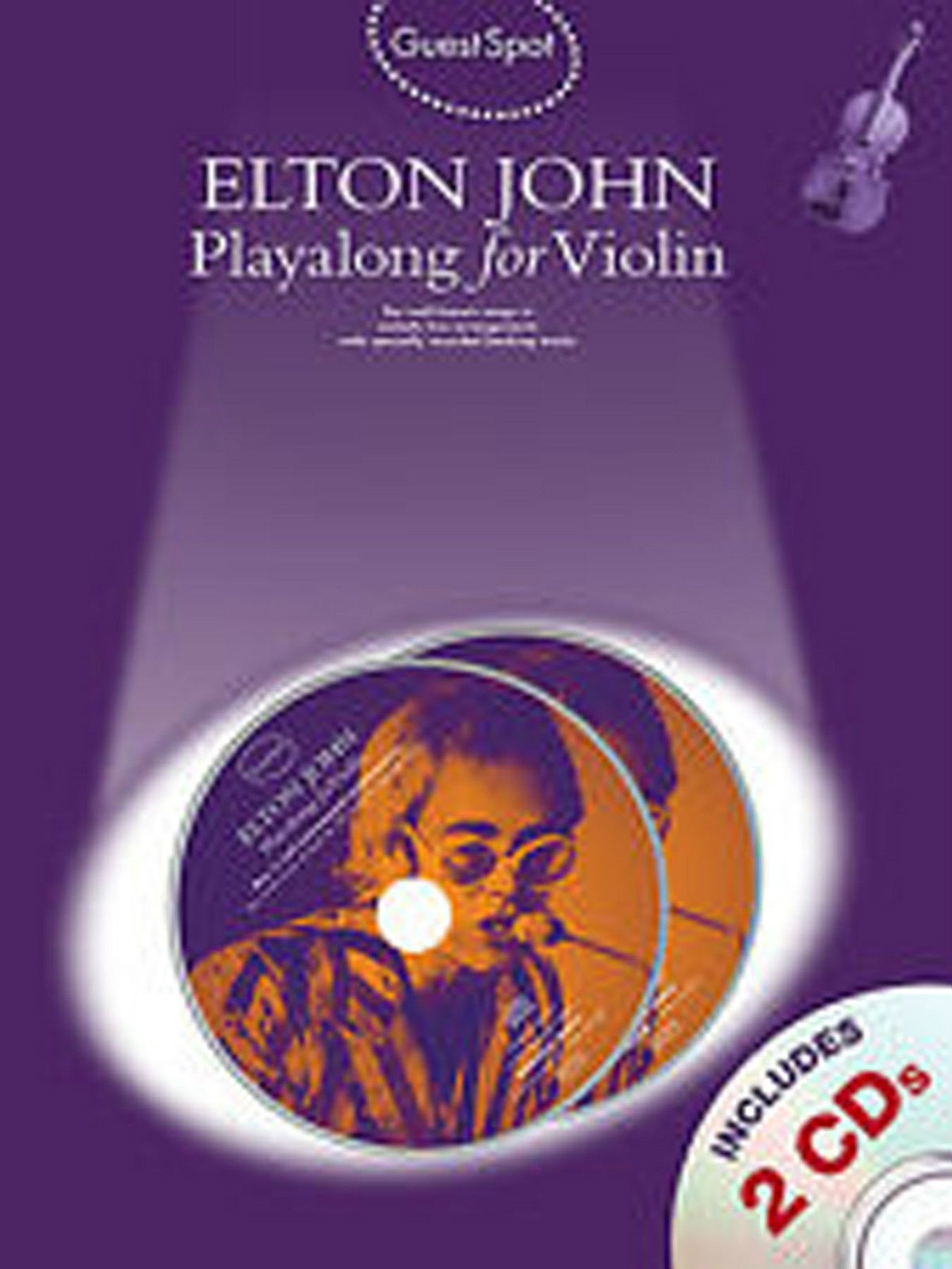 Guest Spot Playalong Violin Elton John Book CD Sheet Music B40