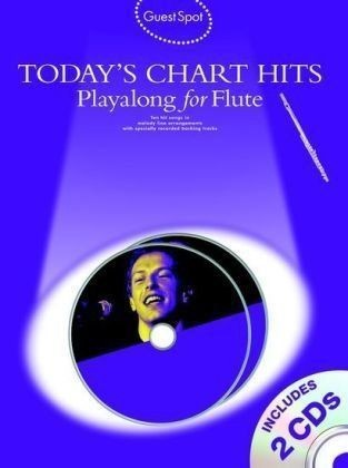 Guest Spot Todays Chart Hits Playalong Flute Book CD Sheet Music B56