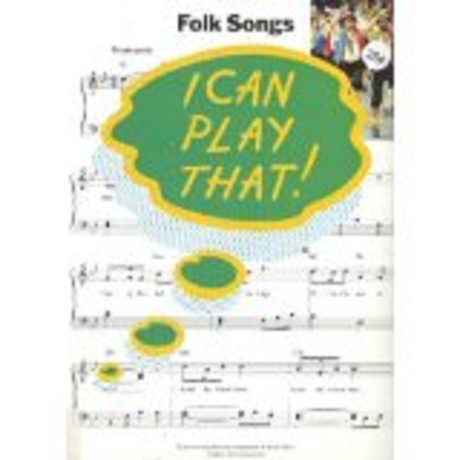 I Can Play That! Folk Songs Easy Piano Sheet Music Beginner Pieces Grade 1-4 S24
