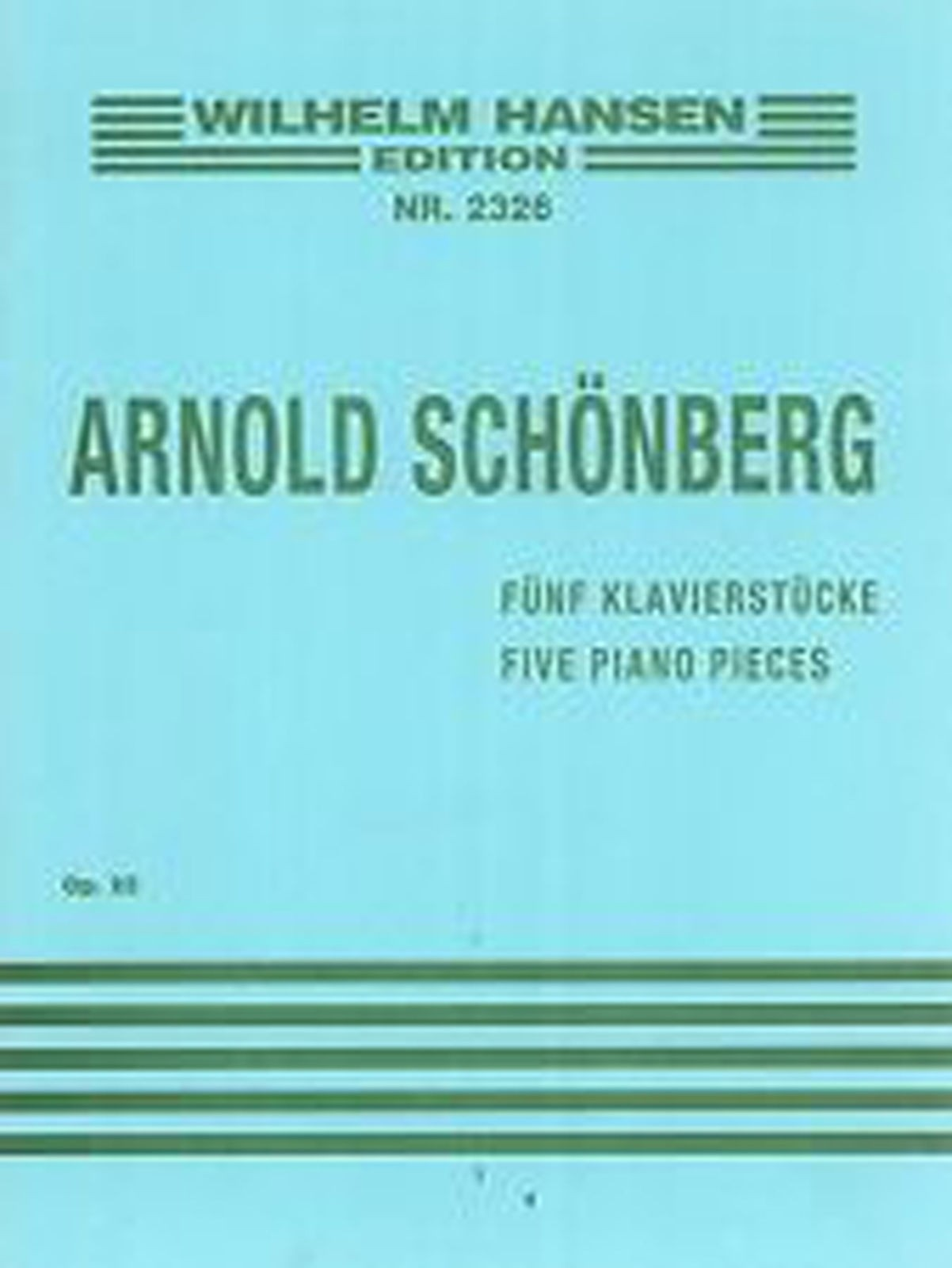 Arnold Schonberg Five Piano Pieces Advanced Solo Sheet Music Book Opus 23 S104