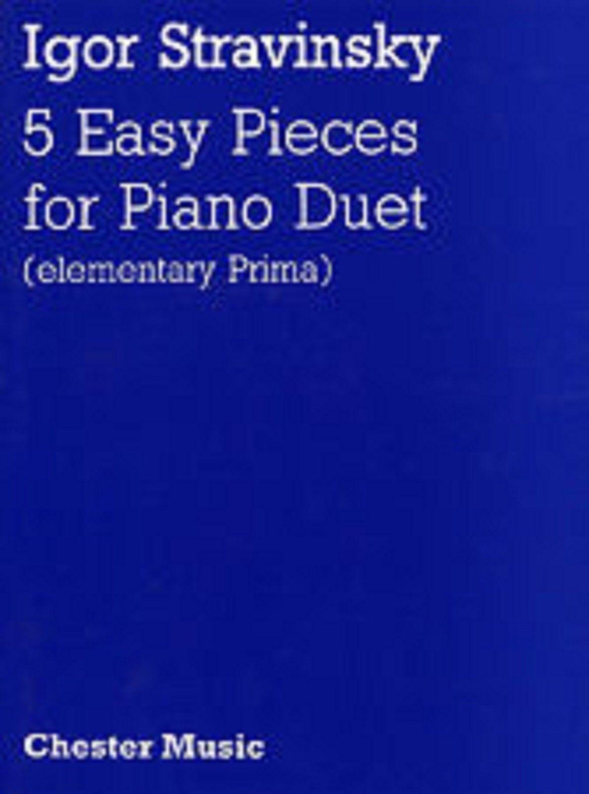 Igor Stravinsky Five Easy Pieces Piano Duet Sheet Music Elementary Prima S16