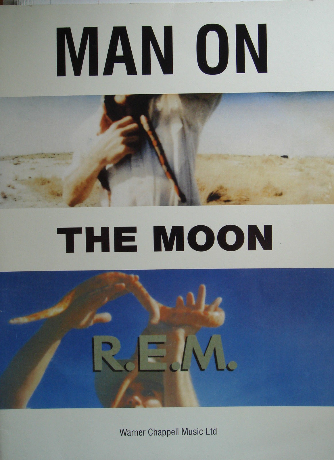Man On The Moon R.E.M. Full Score Sheet Music Songbook Country Folk Rock B73