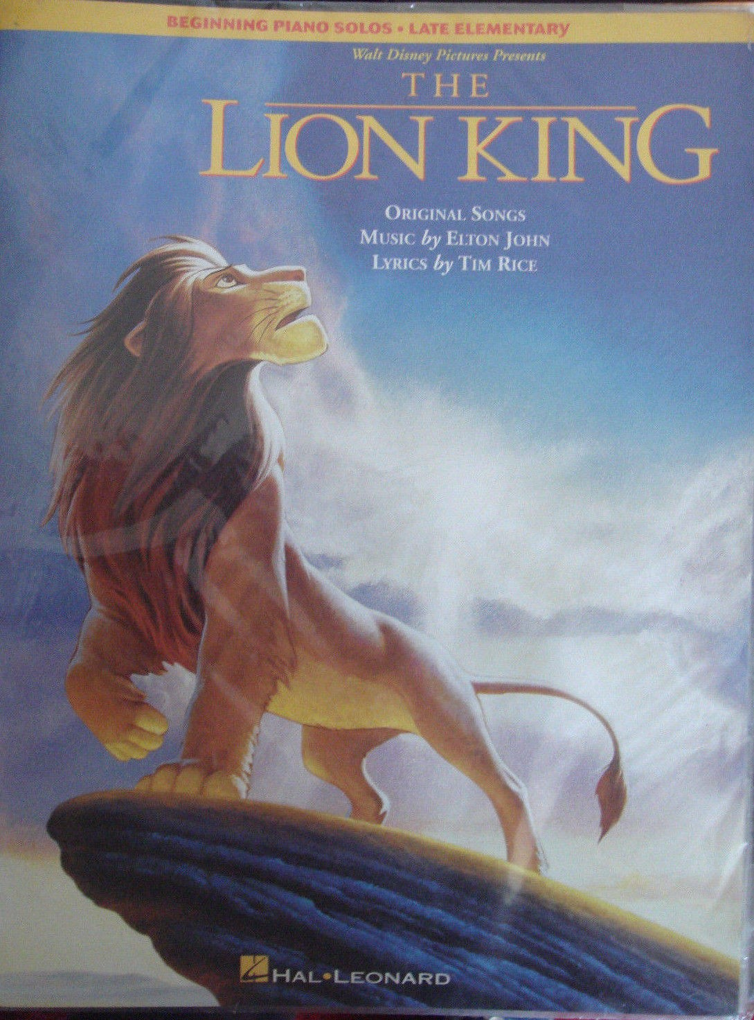 The Lion King Beginning Piano Solos Late Elementary Book Pub by Hal Leonard S30