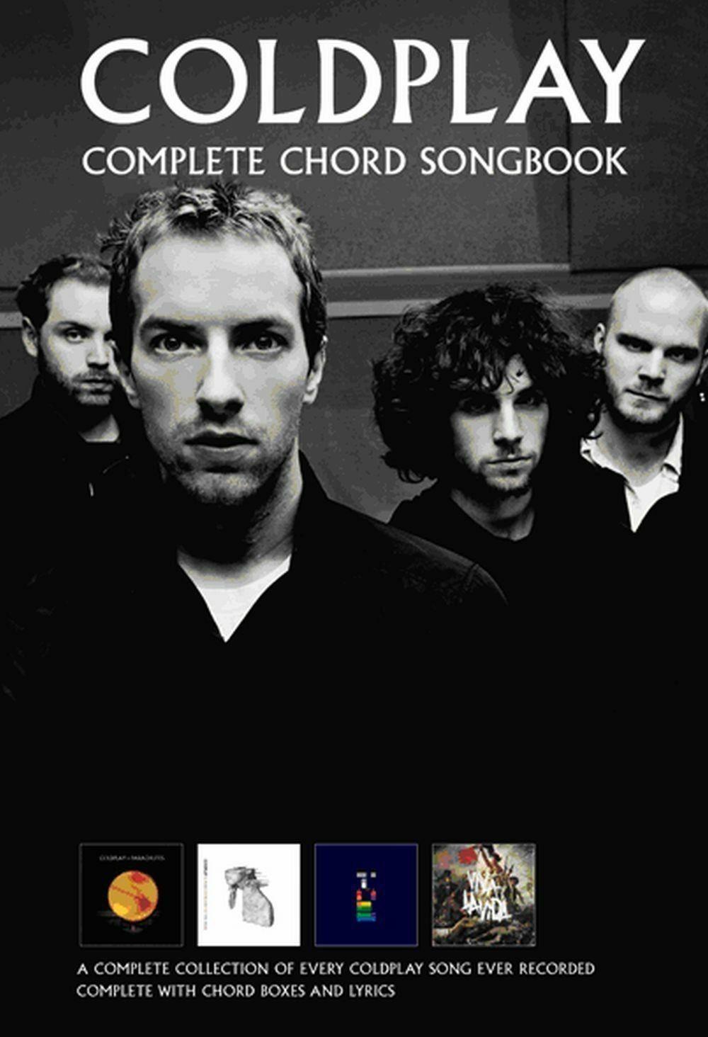 Coldplay Complete Chord Songbook Music Sheet All Songs Original Key Lyrics S126