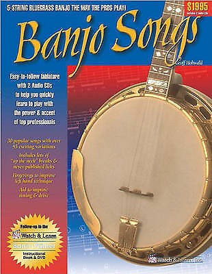 Banjo Songs 5 String Bluegrass Tutor Learn Play CDs Book Tab Hohwald Method S124