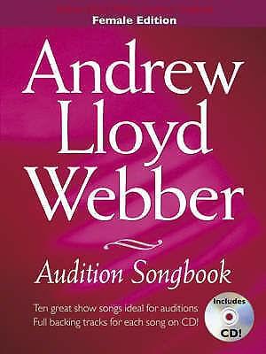 Andrew Lloyd Webber Audition Songbook Female Edition Sheet Music & CD B63