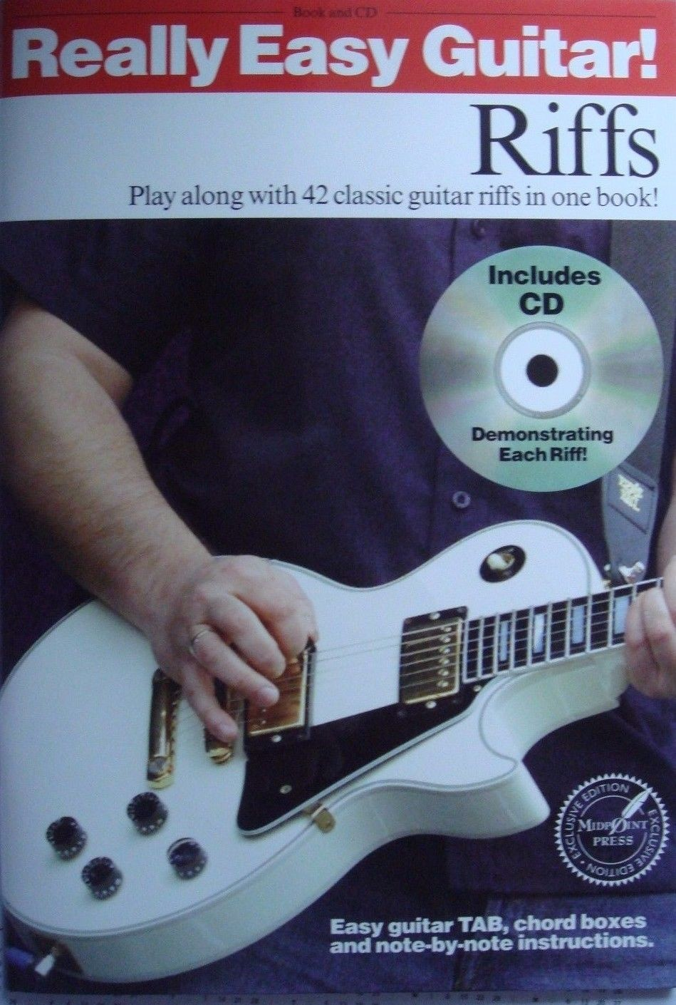 Really Easy Guitar Riffs Book CD Tab Chords Notes Play Along Classic Songs B66