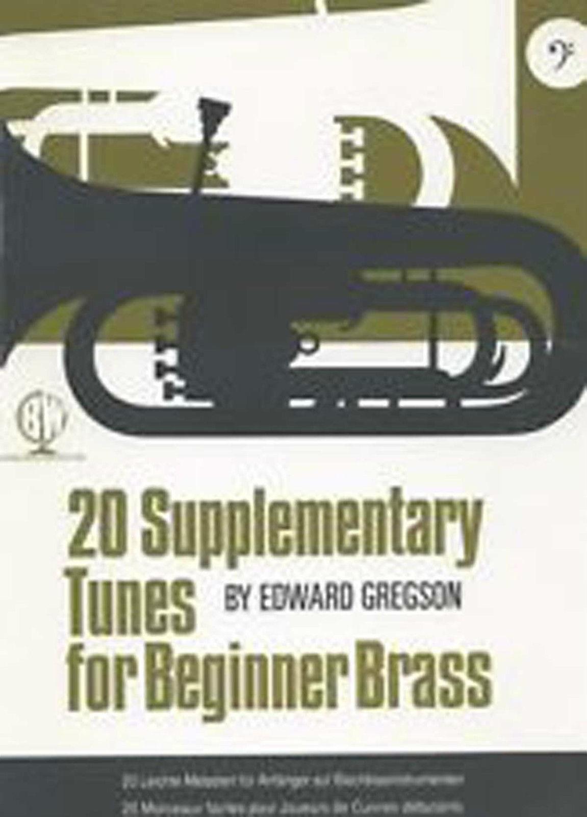 20 Supplementary Tunes for Beginner Brass Book Bass Clef Edward Gregson B86
