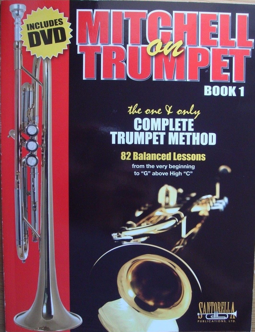 Mitchell On Trumpet Book 1 & DVD Tutor Complete Method Pub Santorella B21 S147