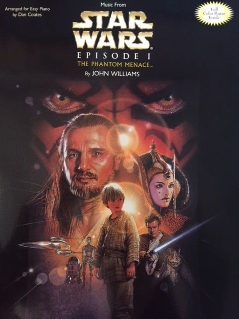 Music from Star Wars The Phantom Sheet Music Big Note Piano John Williams S40