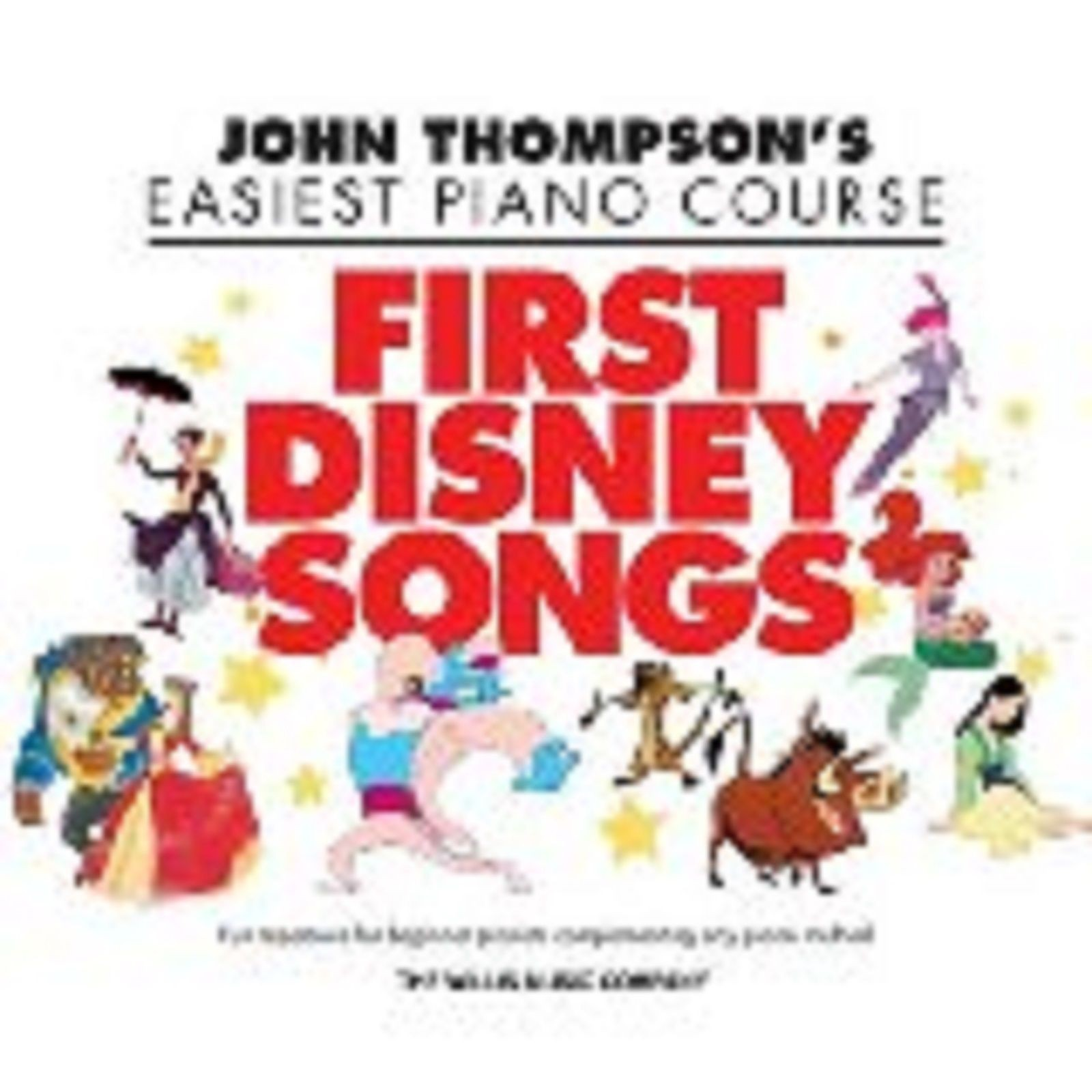 John Thompson's Easiest Piano Course First Disney Songs Film Book Thompson S19