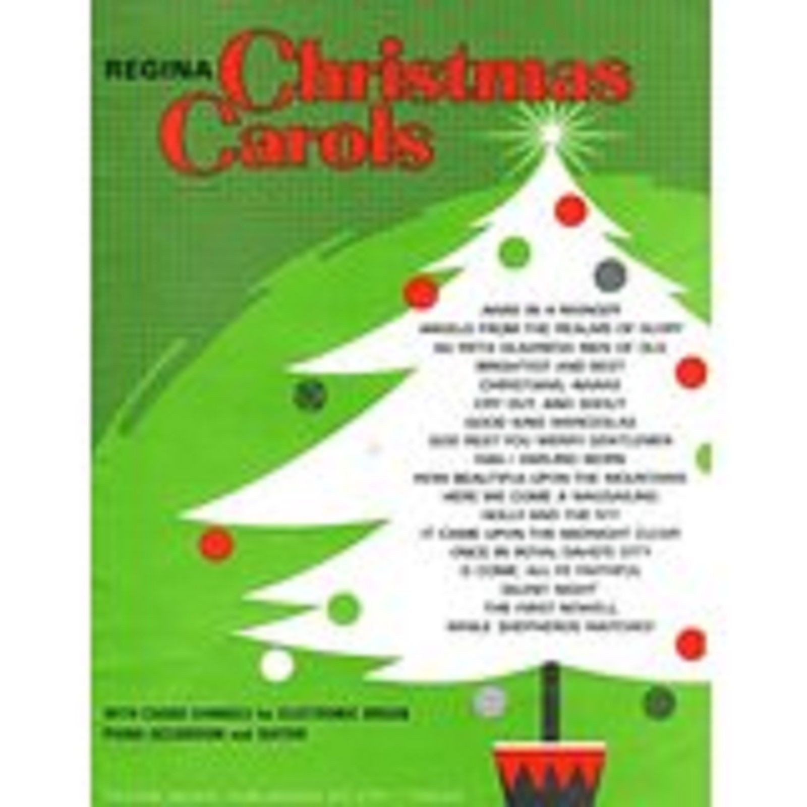 Regina Christmas Carols Trad Easy Sheet Music Songbook Piano Vocal Festive S75