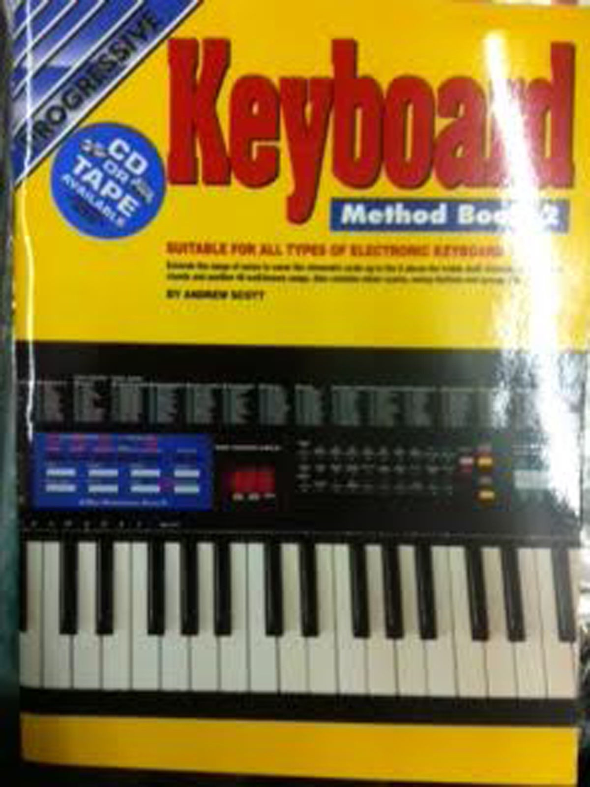 Progressive Keyboard Method Book 2 Tutor Sheet Music Beginner Learn to Play S78