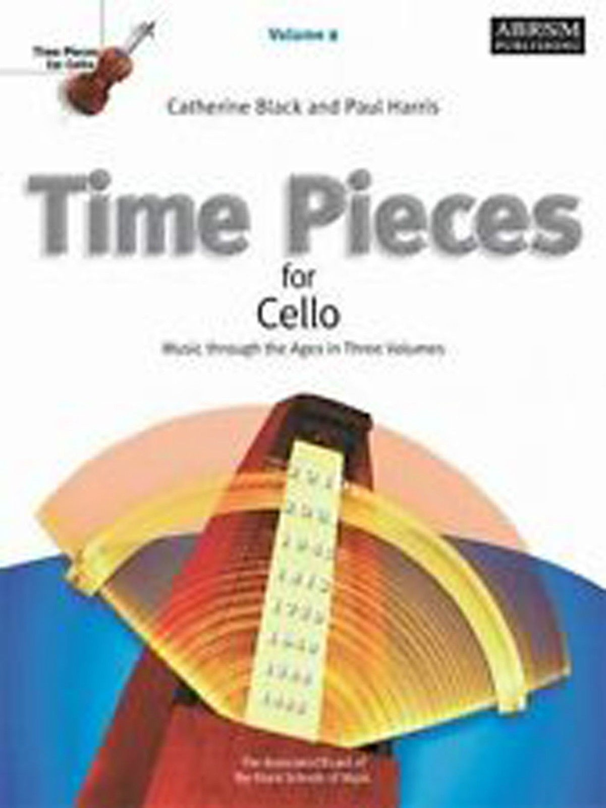 Time Pieces for Cello Vol 2 ABRSM Sheet Music Book Grade 2-3 Black & Harris S123