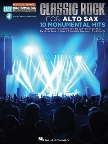 Classic Rock For Alto Sax Monumental Hits Hal Leonard Play-Along & Book S125