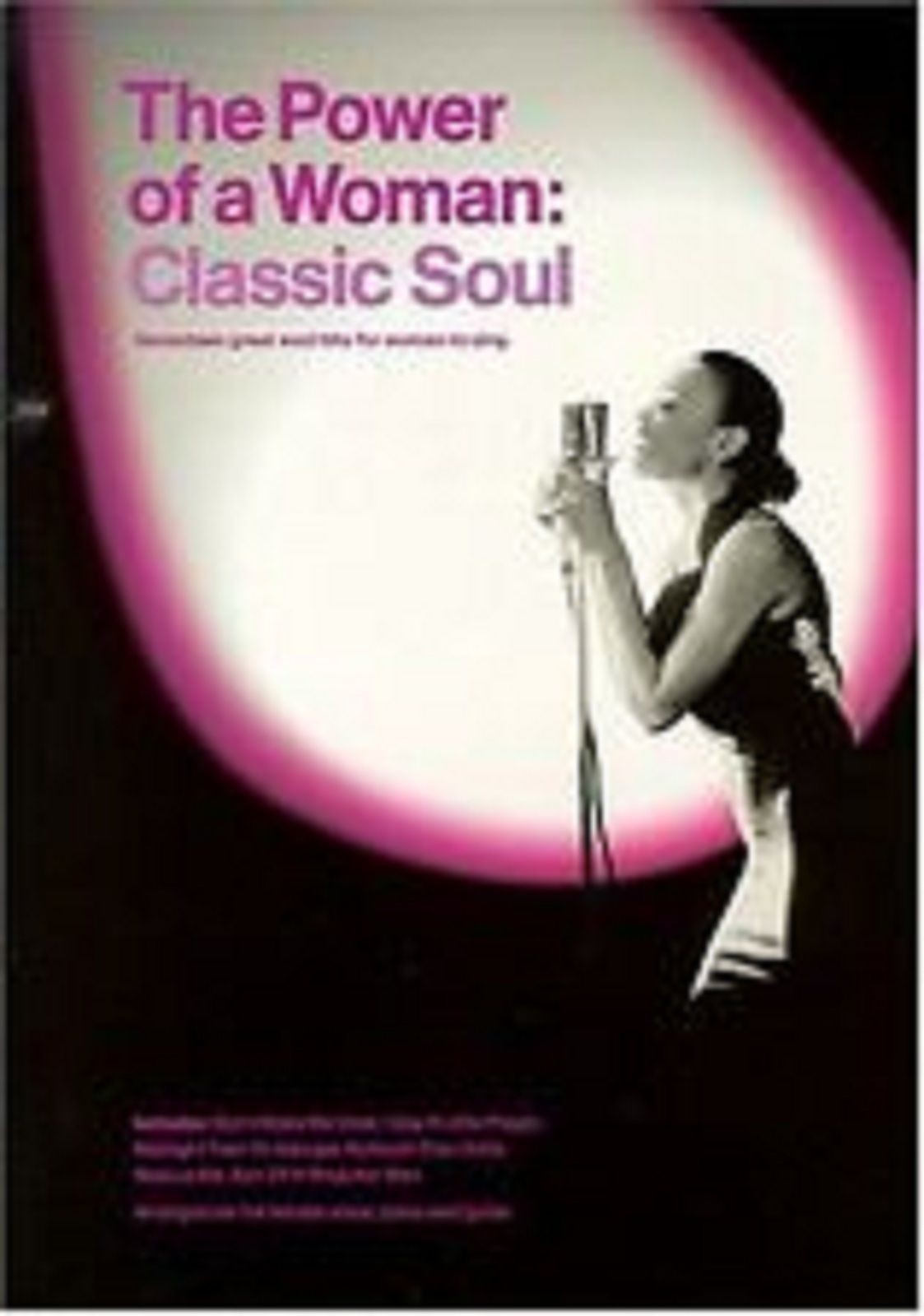 The Power Of A Woman Classic Soul Songs Voice Piano Guitar Sheet Music Book S136