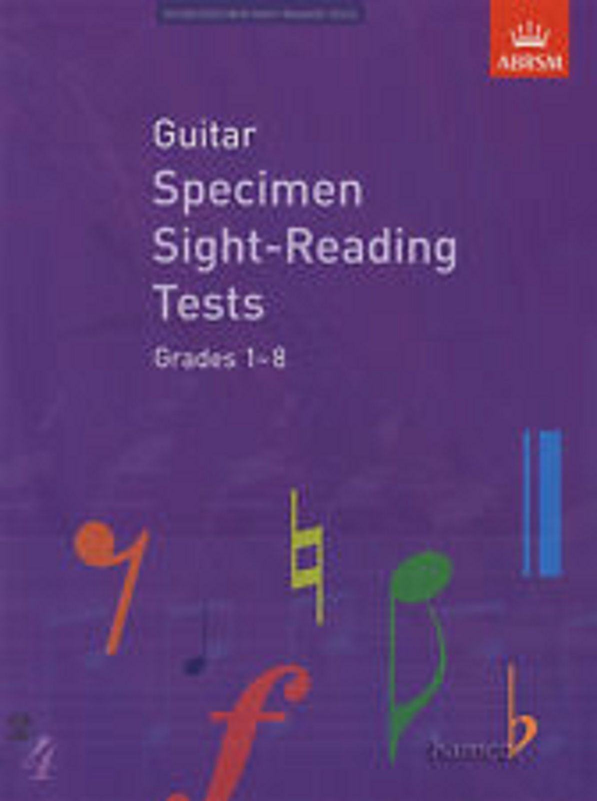 Guitar Specimen Sight-Reading Tests Grades 1-8 ABRSM from 2009 Exam Book S126
