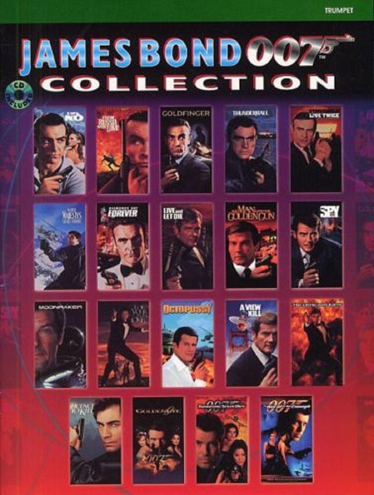 James Bond 007 Collection Trumpet Spy Film Theme Music Book CD Goldfinger S130