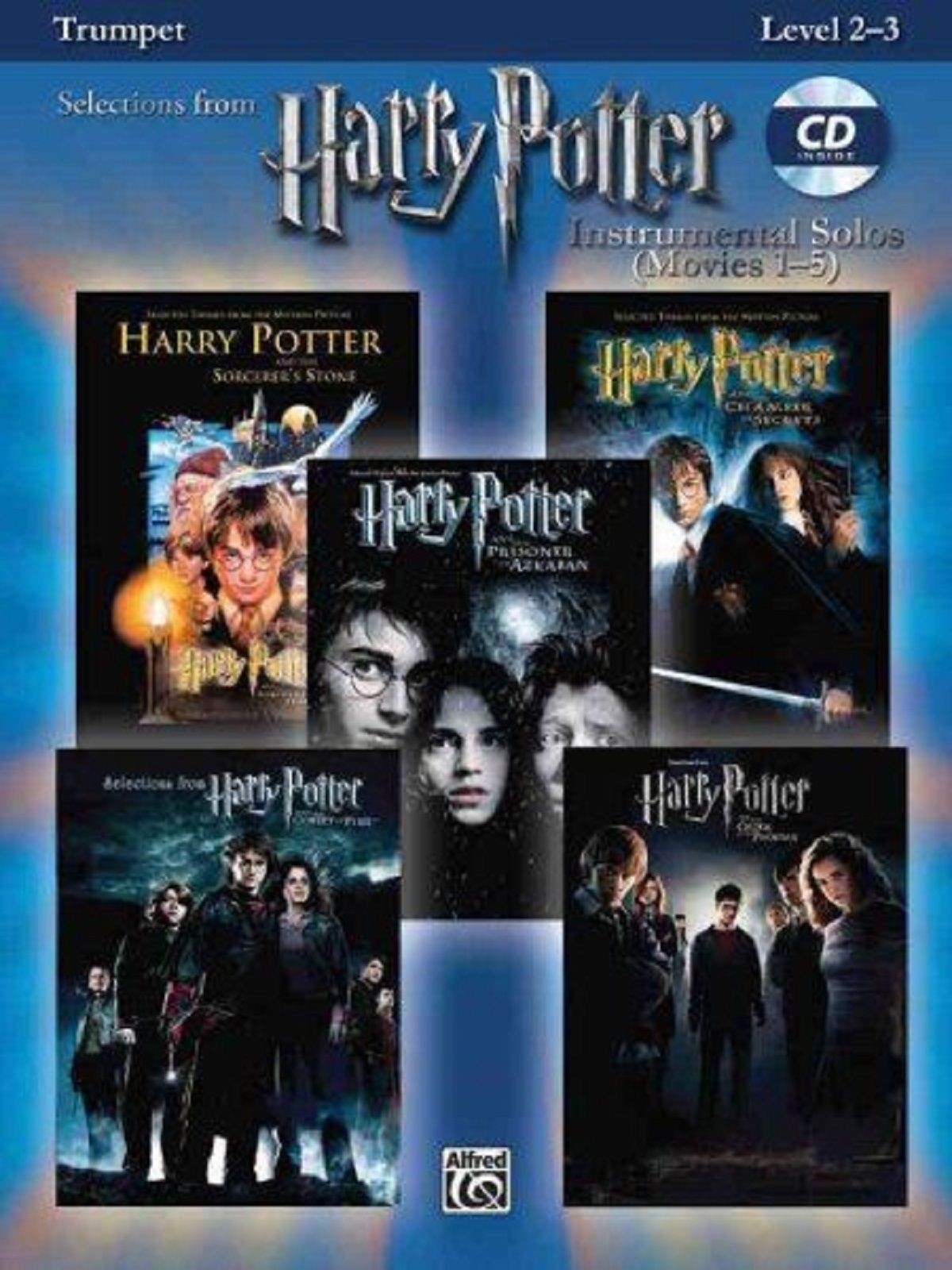 Harry Potter Instrumental Solos Movies 1-5 Trumpet Level 2-3 Book CD S124
