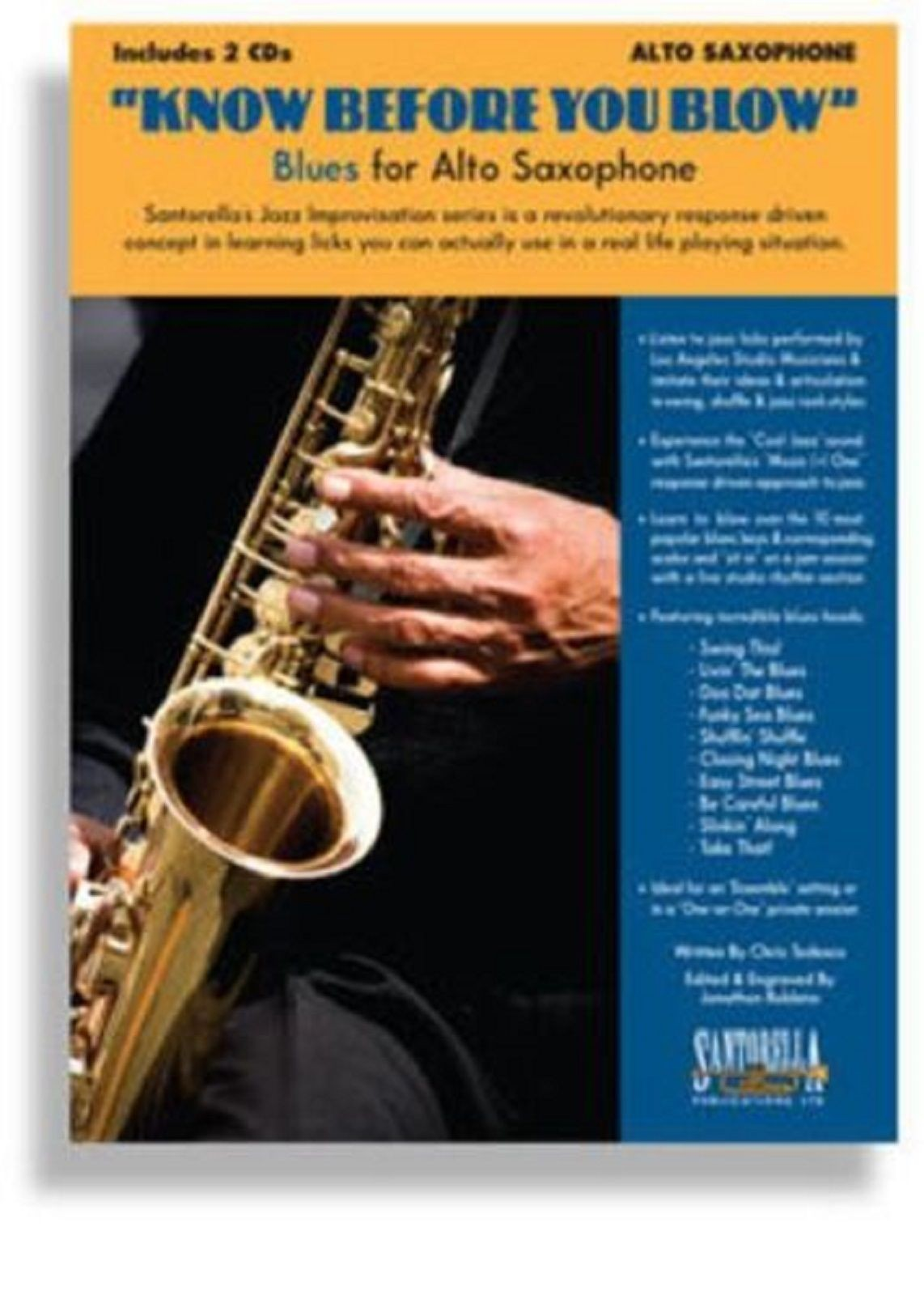 Know Before You Blow Blues Alto Saxophone Tutor Book CDs Play Along S49