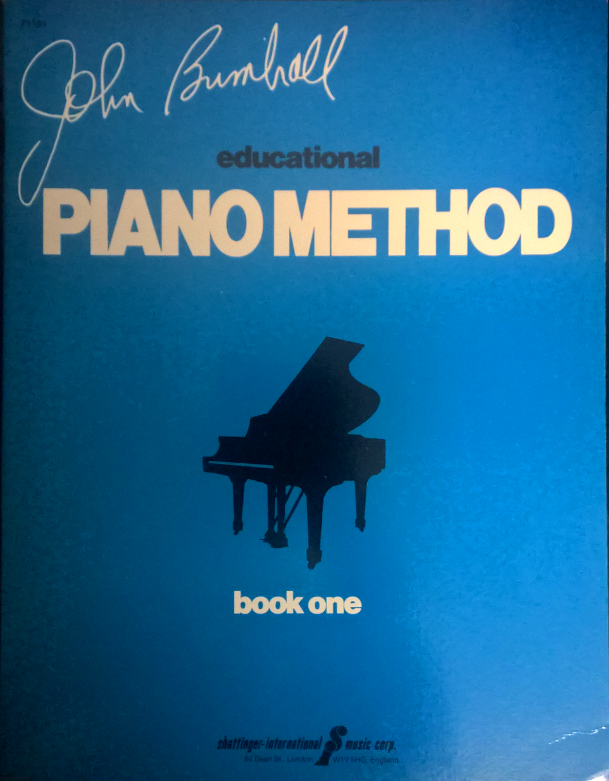John Brimhall Educational Piano Method Book One Tutor Adult Beginner Learn S108