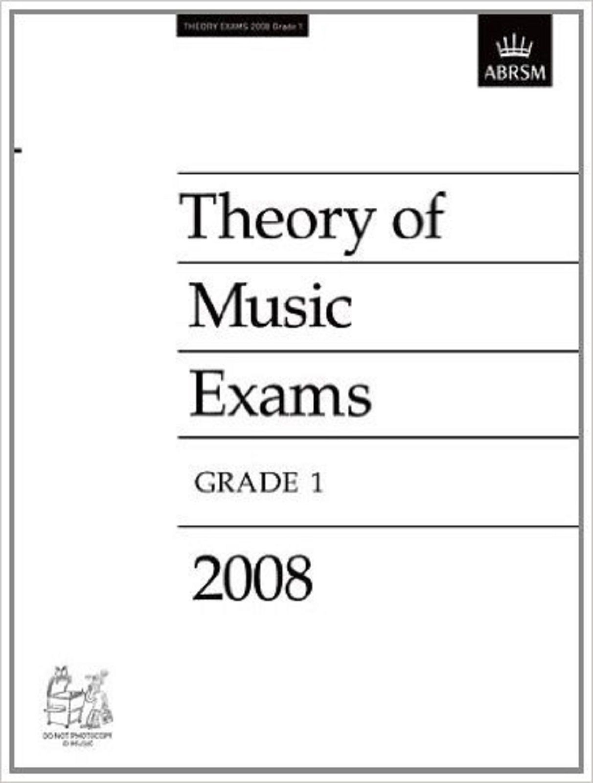 Theory Of Music Exams Grade 1 Past Practice Papers 2008 ABRSM S109