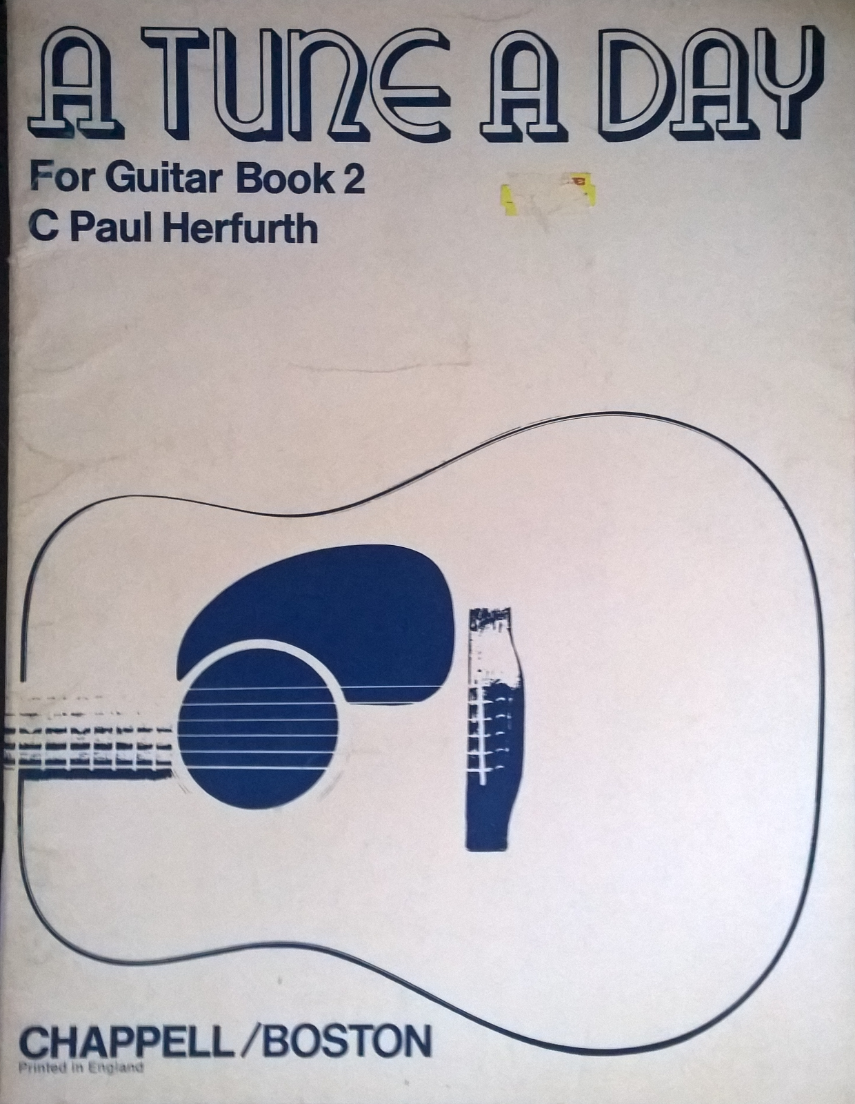 A Tune A Day Guitar Book 2 Herfurth Notes Method Pieces Progressive Tutor S111