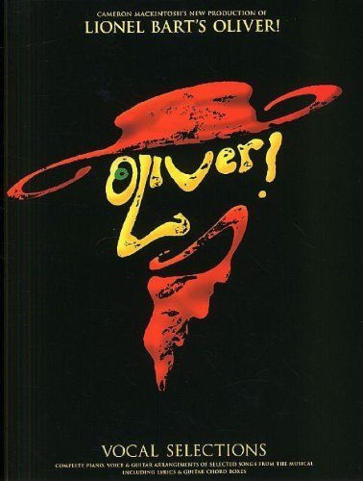 Oliver! Lionel Bart Vocal Selections Piano Voice Guitar Oliver Musical Book S160