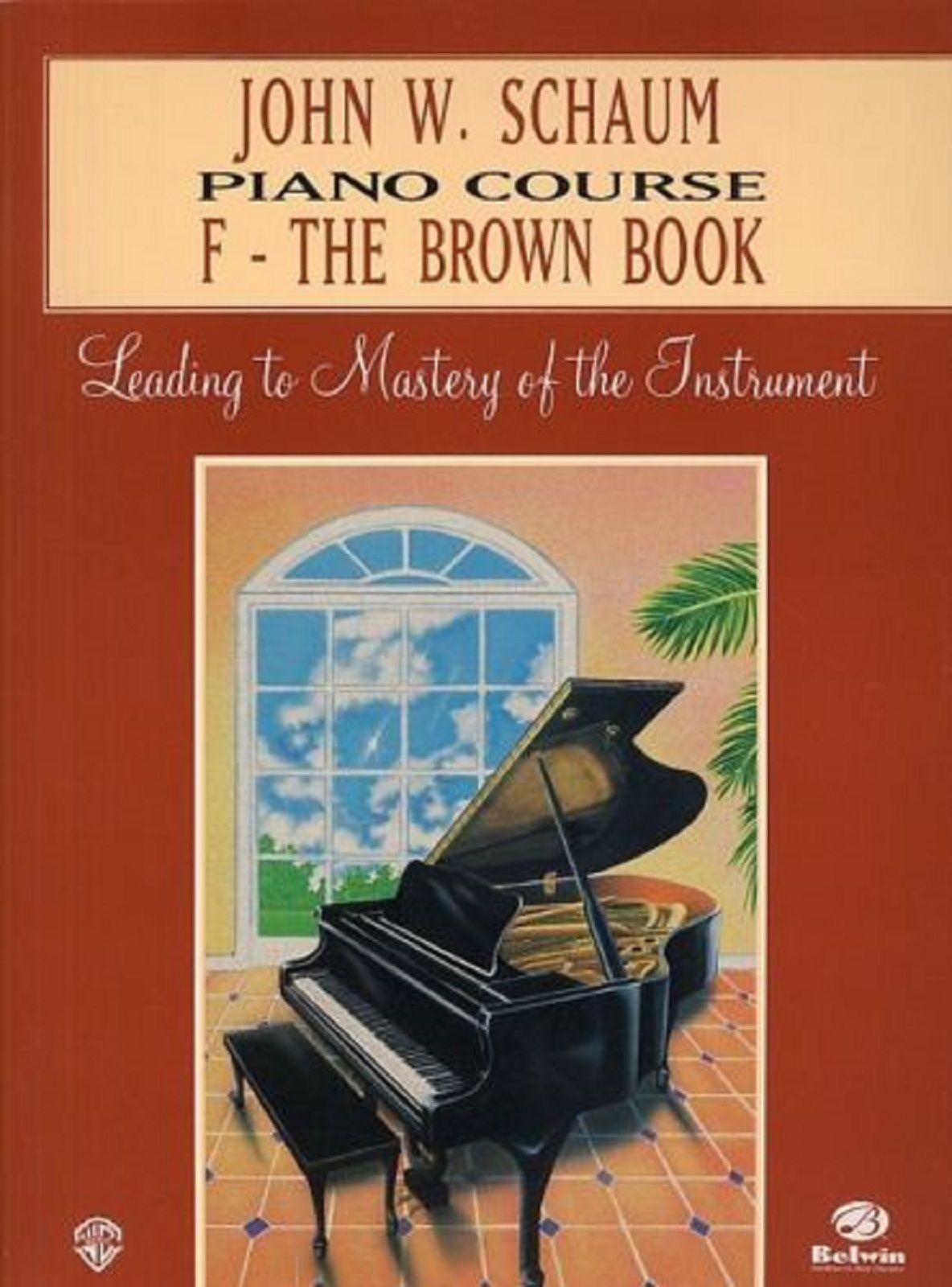Piano Course F The Brown Book John W Schaum Sheet Music Tutor  S69