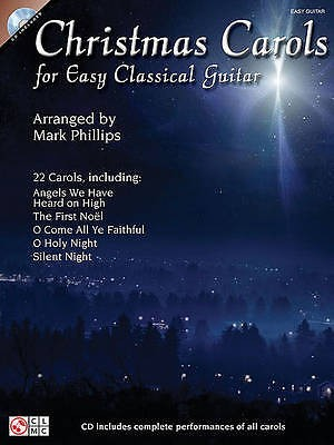 Christmas Carols for Easy Classical Guitar Book & CD Mark Phillips de Haske S70