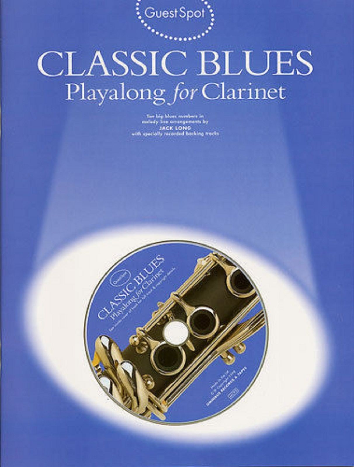 Guest Spot Classic Blues Playalong For Clarinet Music Book & CD S70