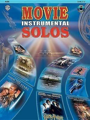 Movie Instrumental Solos Flute Level 2-3 Book & CD Film Themes Tracks S70