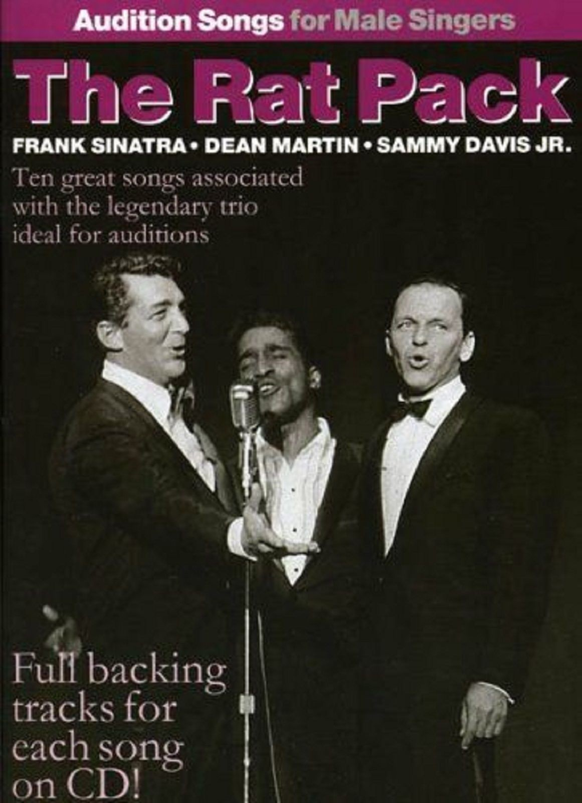 Audition Songs For Male Singers The Rat Pack Book CD Sinatra Martin Davis Jr S70