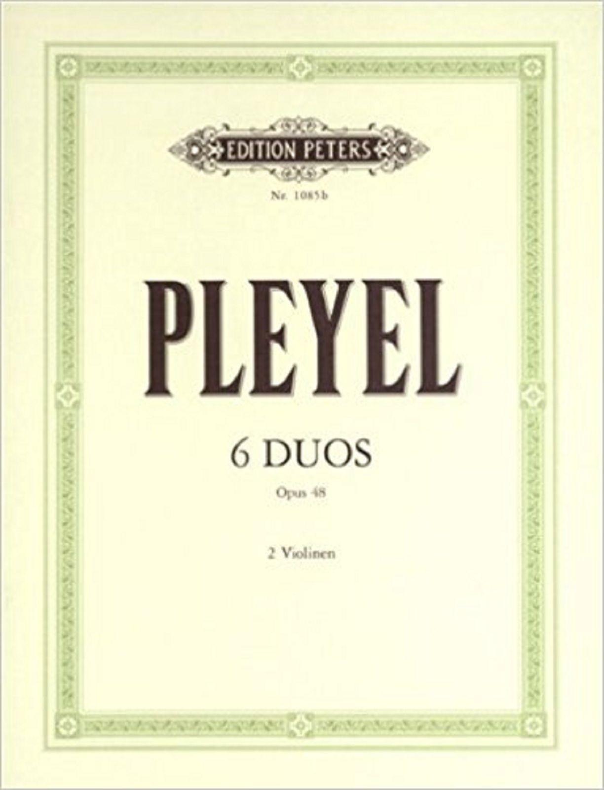 Pleyel 6 Duos Opus 48 2 Violin Sheet Music Duet Book S171
