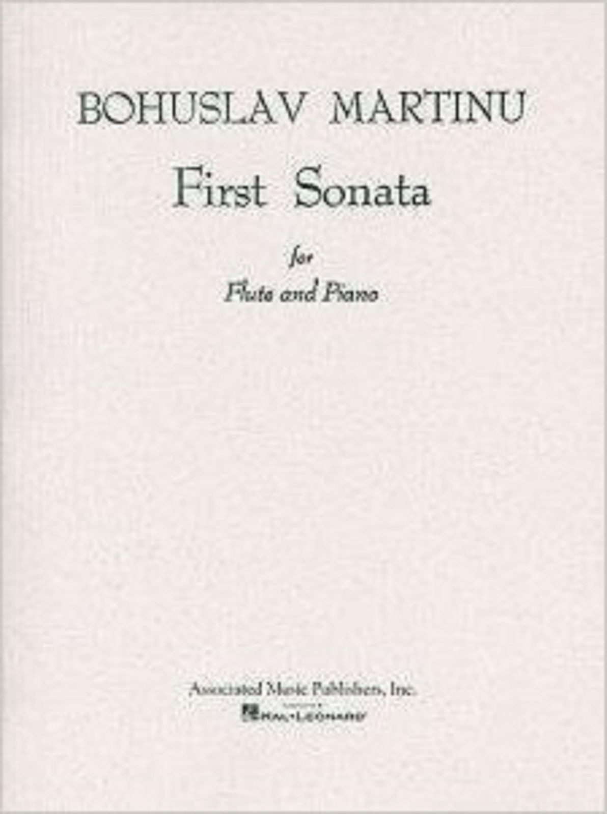 Bohuslav Martinu First Sonata For Flute And Piano Sheet Music Book S171