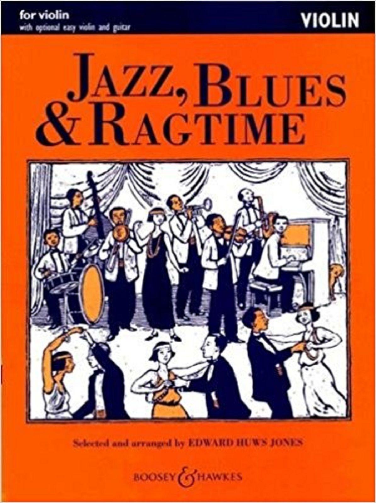 Jazz Blues & Ragtime Violin Optional Easy Violin Guitar Sheet Music Book S171
