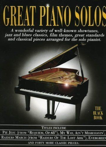 Great Piano Solos The Black Book 45 Showtunes Jazz Blues Classical Film S134