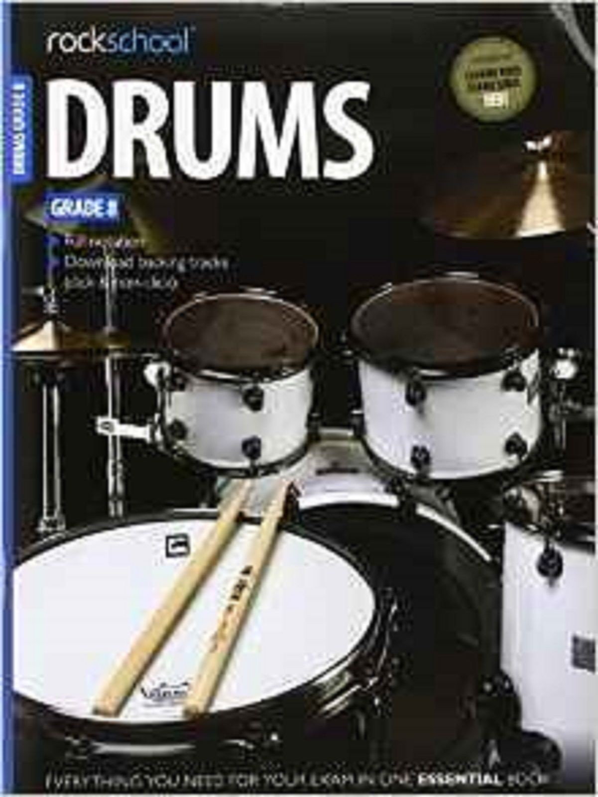 Rockschool Drums Grade 8 2012-2018 Sheet Music Full Notation Book & CD S134