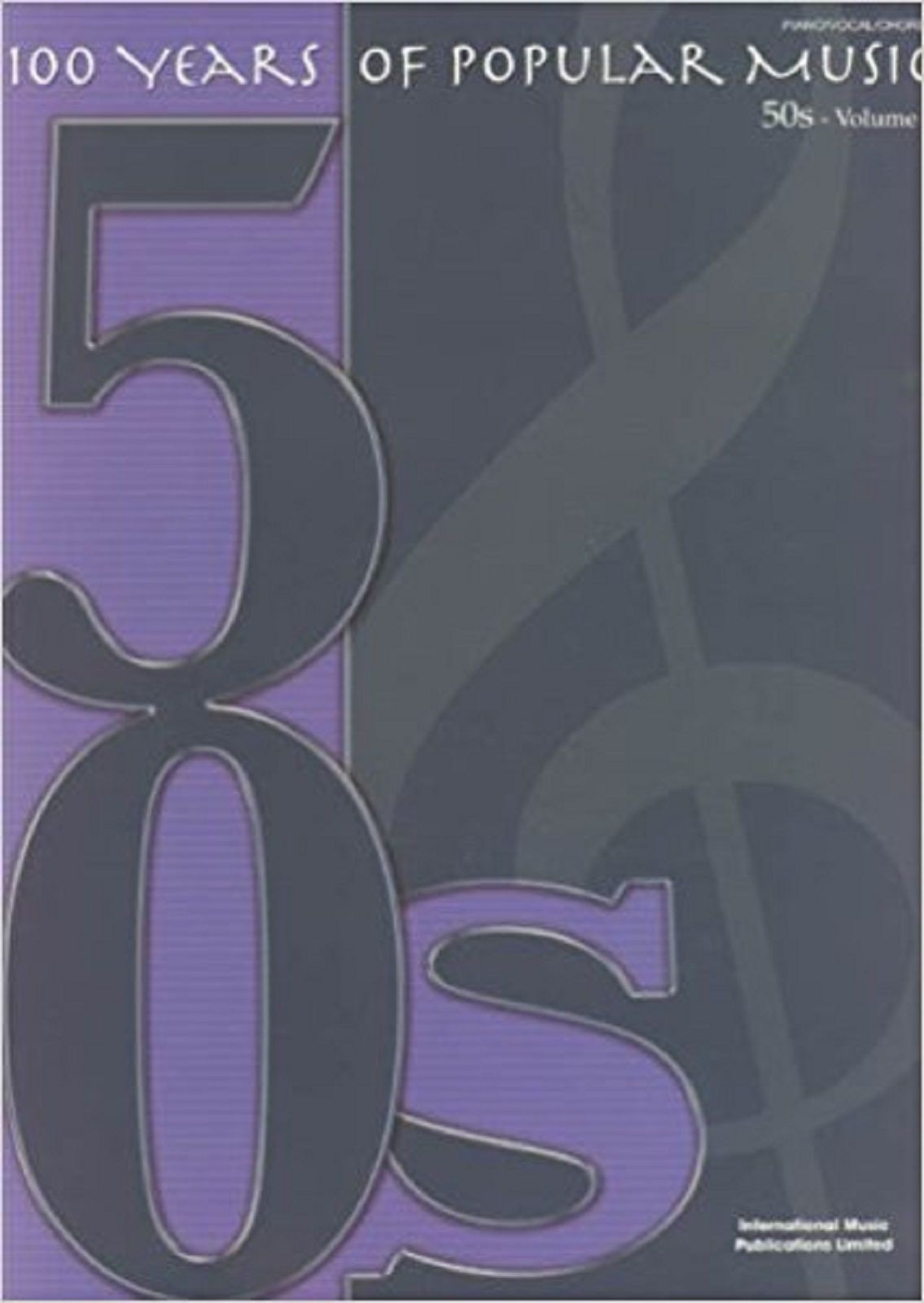 100 Years Of Popular Music 50s Volume 1 Piano Vocal Chords Sheet Music Book S138