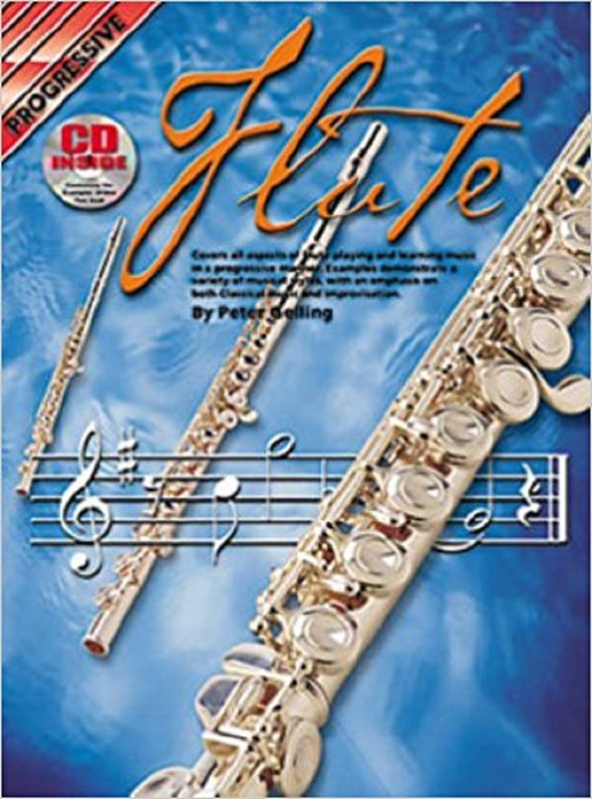 Progressive Flute Beginner Tutor Method Book & CD Peter Gelling B42