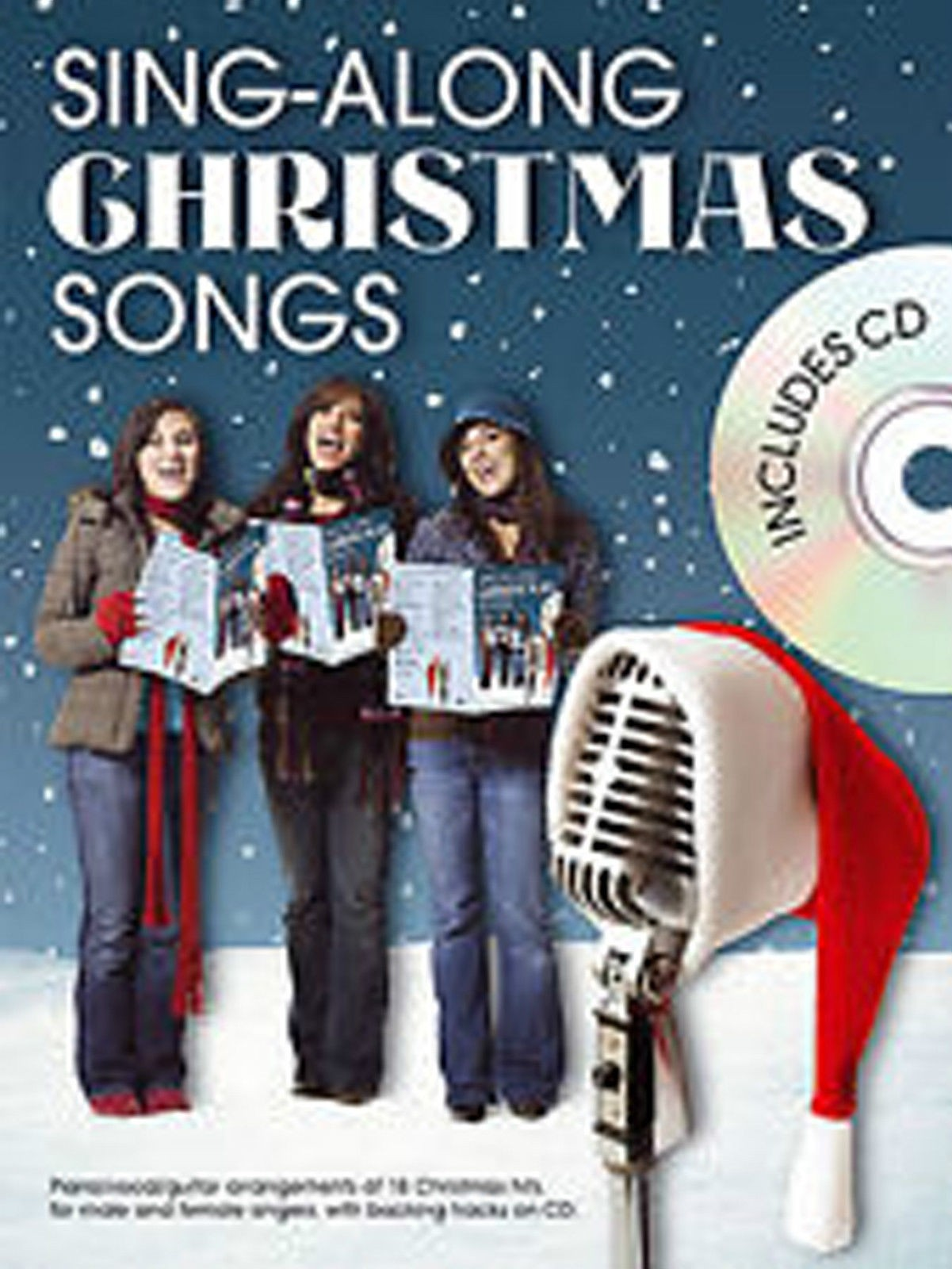 Sing-Along Christmas Songs Book & CD Male Female Singers Piano Vocal Guitar B42