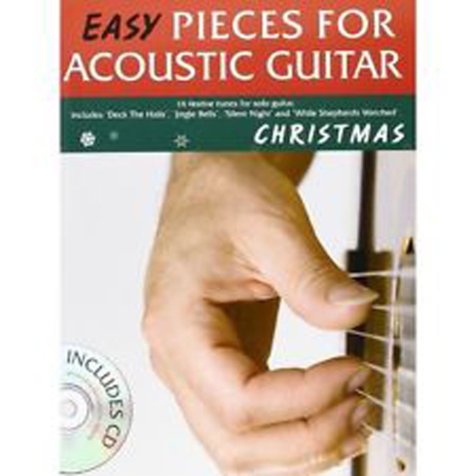 Easy Pieces for Acoustic Guitar Christmas Festive Tunes Carols Tab Book CD B51
