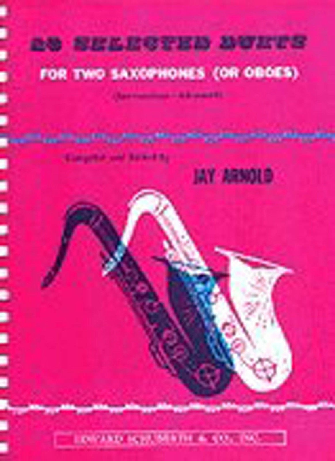 28 Selected Duets for Two Saxophones or Oboes Arnold Advanced Sheet Music B51