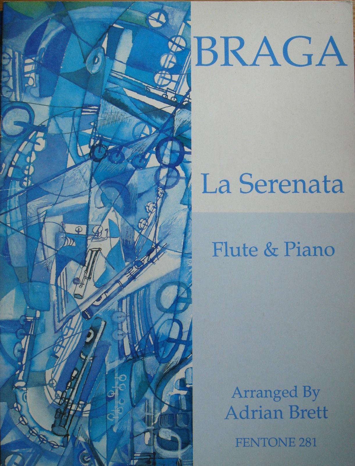 Gaetano Braga La Serenata Flute & Piano Book Arr Adrian Brett Fentone 281 B44